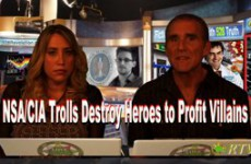 NSACIA_Trolls_Destroy_Heroes_to_Profit_Villains_SnowdenWikileaks_Evidence_Protection_Racket_for_Death_Industry