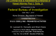 FBI Video Affidavit by Dr. Leonard Horowitz v. the Racketeering Enterprise of Hawaii Attorney Paul J. Sulla, Jr.