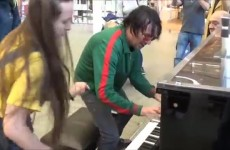Teenage Girl Rocks The Public Piano Dudes Gather To Watch thumbnail
